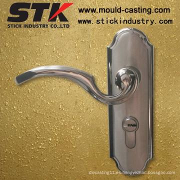 Tirador de puerta de aleación de zinc con revestimiento (Z1033)