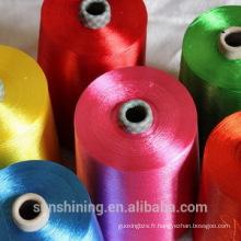 viscose Fil de filaments de rayons 50D brillant et terne avec une qualité élevée