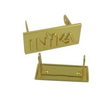 OEM diseño promocional bolsa de metal Logo Plate