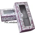 Custom Glossy Purple Lash Box with Clear Window