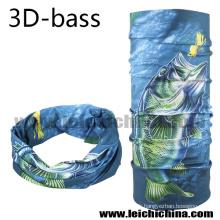 2016 New Design 3 D Bass écharpe de pêche