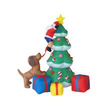 Maßgeschneiderte aufblasbare Weihnachtsbäume im Freien, riesiger Stand