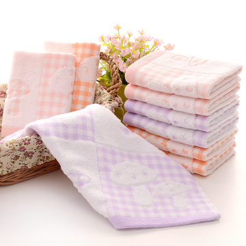 Kids 6 Piece Washcloth Set Cotton Square Handduk