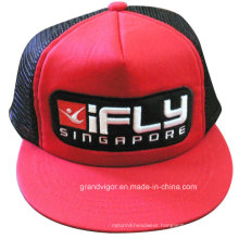 Five Panels Cotton Snapback Hat with Mesh Back