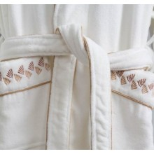 Canasin 5 Star Hotel Piping Bathrobe Luxury 100% cotton