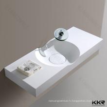 En gros conception italienne solide surface mur accroché salle de bains lavabos