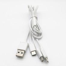 Cable de carga de datos USB 3 en 1 para iPhone Anroid