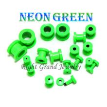 2014 New Neon Green Anodized Screw Custom Ear Flesh Tunnel
