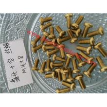 Parafusos de parafuso de bronze do parafuso da cabeça da bandeja do parafuso DIN7985