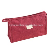 Wholesale high quality canvas cosmetic bag with zipper