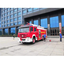 Sinotruk 6x4 lift arm remote control fire truck