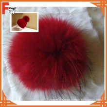 Custom Made Real Raccoon Fur Ball for Hat