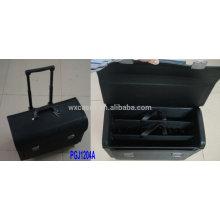 impermeable bolsa de herramientas rodante con manija extensible construido-hacia fuera y 2 sistemas de almacén de herramienta dentro de