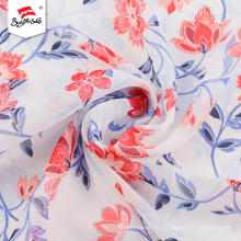 Tecido impresso chiffon elegante da flor para o vestido