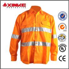 Camisa de manga larga 100% algodón reflectante uv protección hombres