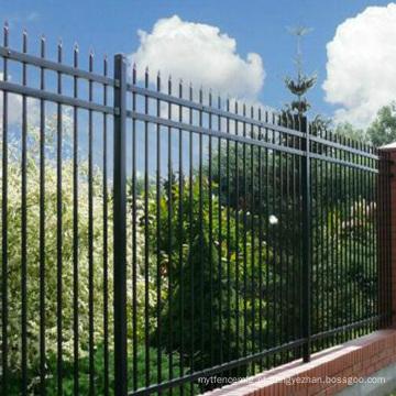 painel de cerca de alumínio decorativo cerca de animal de estimação elétrico qualidade forjado