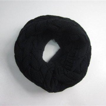 Machine Knitting Black Jacquard Loop Scarf
