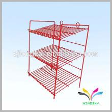 Sostenedor de soporte de piso de alambre de metal de la casa puede exhibir estante