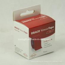 Caja de embalaje de cartón de impresión personalizada con tarjeta de encabezado