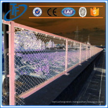 2016 hot sale cheap electricpeach pole chain link fence , chain link fence mesh