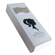 Kustom White Paper Hair Packaging Boxes Wholesale
