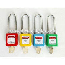 CE certification high security padlock with stainless steel long shackle safety padlock