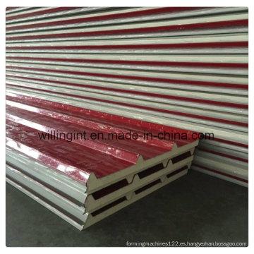Panel de sándwich de poliuretano aislado Panel de pared de bajo costo Lowes