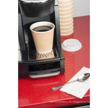 Kaffee / Tee Papierbecher & SIP Deckel-Einweg für heiße Getränke