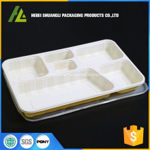 heavy duty 6 compartments food tray