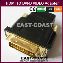 Gold HDMI to DVI-D video adapter