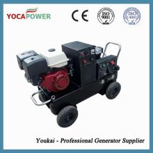 Gasolina 5kVA portátil de soldadura eléctrica generador de gasolina con compresor de aire