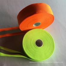 cinta reflectante de poliéster de alta luz para ropa reflectante de seguridad