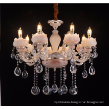 Traditional zinc alloy guzhen wrought iron candle chandelier LT-88675