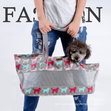 Collapsible breathable Pet carrier dogs cats pet tote handbag travel pet carrier