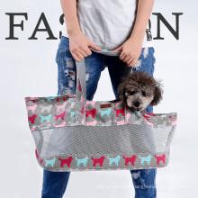 Dobrável respirável Pet transportadora cães gatos pet tote bolsa de viagem pet transportadora