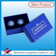 Fashion Epoxy Gift Box Metal Cufflinks 2015