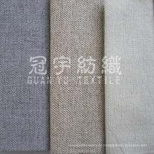 Tecido de poliéster cortina de linho para têxteis-lar