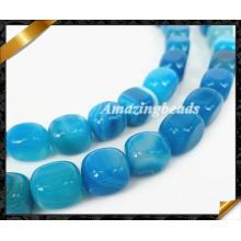 Синий Полосатый Агат Бусины Whoesale (AG021)
