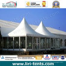 Hochwertige Pagoden-Zelte im Freien mit Glaswand für Verkauf
