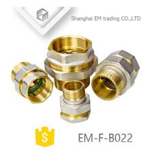 Encaixe de tubulação EM-F-B022 de latão cromado