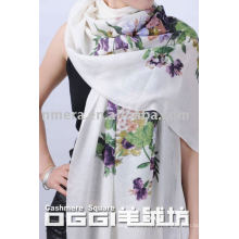 Ladies' hand painted cashmere scarf and shawl