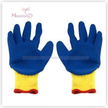 Gants de jardin de travail enduits de sécurité de polyester de paume de latex de froissement de 10g