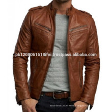 high quality fashion brown genuine leather jackets for men