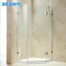 Seawin Seamless Rubber Strip Stop Frameless Shower Glass Door Morden Hotel Shower Enclosure