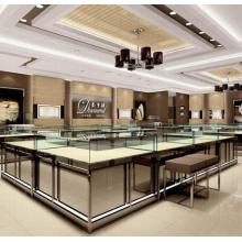 Balcão e vitrine de loja de joias personalizadas