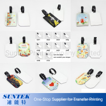 Sublimation MDF Luggage Tags with Plastic Strip