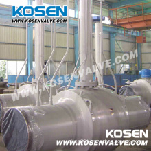 Extension Stem Worm Gear Full Welded Ball Valve for Gas