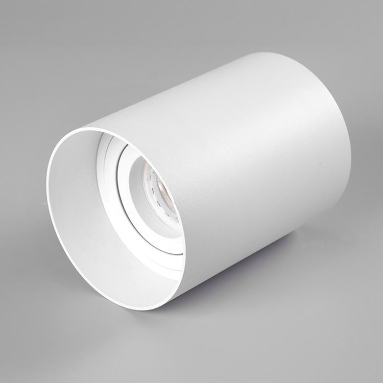 Inner door pure aluminium gu10 surface mounted adjustable downlight fixture