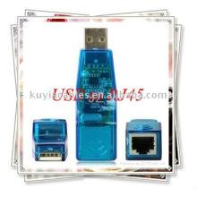Adaptador de NIC de Rede LAN 10/100 para RJ45 USB para Ethernet