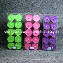 Vela de Tealight de copo de plástico de perfume